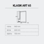 KLASIKART65-DIMENZIJE