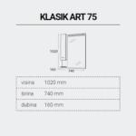 KLASIKART75-DIMENZIJE