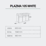 PLAZMA105WHITE-DIMENZIJE